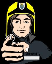 feuerwehrmann fingerzeiger